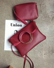 Дамска чанта от две части в цвят бордо - код B292