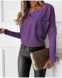 Дамска блуза в тъмнолилаво - код 4450