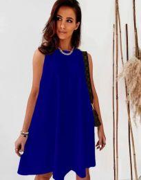 Свободна дамска рокля в тъмносиньо - код 9862