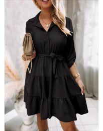 Дамска рокля в черно - код 6970