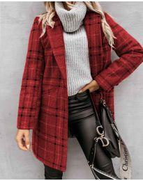 Дамско палто в бордо - код 6333