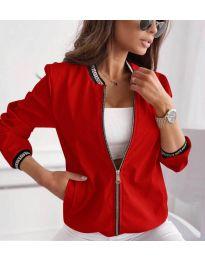 Дамско яке в червено - код 2081