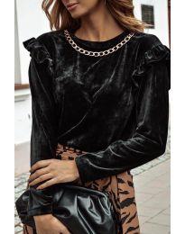 Дамска блуза в черно - код 4948