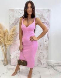 Елегантна дамска рокля в розово - код 10033