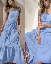Феерична рокля в светлосиньо - код 2991