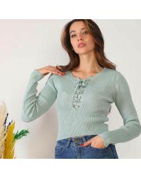 Дамска блуза в цвят мента - код 6365