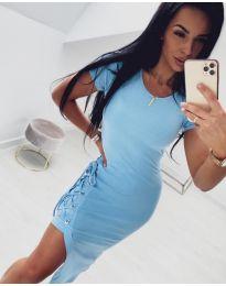 Спортно - елегантна рокля в светло синьо - код 059