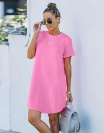 Свободна рокля в розово - код 38444