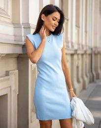 Изчистена дамска рокля в светлосиньо - код 10044