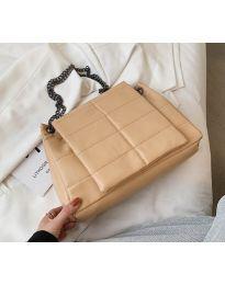 Дамска чанта в цвят капучино - код B506