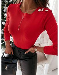 Дамска блуза в червено - код 4244