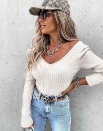 Стилна дамска блуза в бяло - код 5918