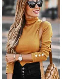 Дамска блуза в цвят горчица - код 7971