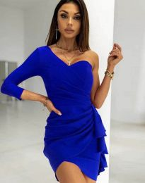 Ефектна дамска рокля  в  синьо - код 5543