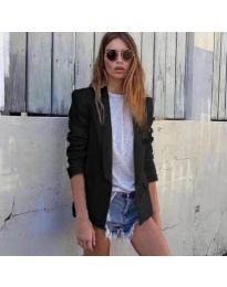 Спортно-елегантно дамско сако в черно - код 118