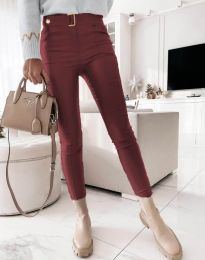 Елегантен дамски панталон в цвят бордо - код 1567