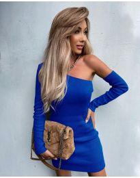 Елегантна рокля в синьо - код 4933