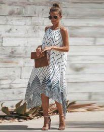 Ефирна лятна рокля с атрактивен мотив - код 5260 - 1