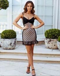 Елегантна дамска рокля в черен - код 7189