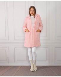 Дамско палто в розово - код 1615