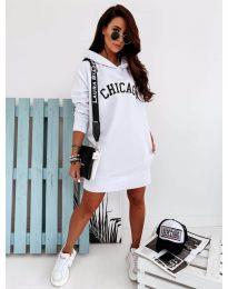 Спортна рокля в бяло - код 802