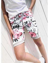 Къси панталонки  в бяло - код 9797