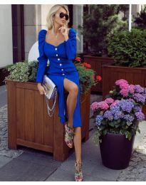 Елегантна рокля в синьо - код 4418