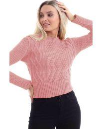 Дамска блуза в цвят пудра - код 145