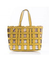 Дамска чанта в цвят жълто  - код LS563