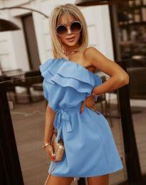 Кокетна дамска рокля в светлосиньо - код 7100