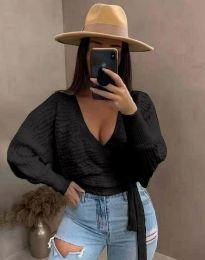 Дамска блуза в черно - код 3728