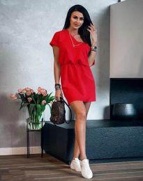 Дамска рокля в червено - код 3214