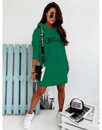 Спортна рокля в зелено - код 802