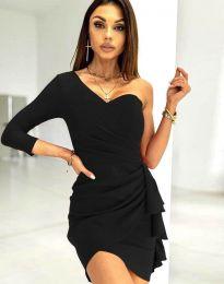 Ефектна дамска рокля  в  черно - код 5543