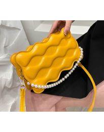 Елегантна дамска чанта в цвят горчица - код B503