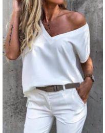 Дамска тениска в бяло - код 0589