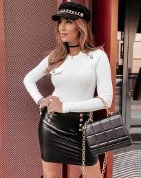Атрактивна дамска блуза в бяло - код 2151