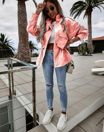Атрактивно дамско яке в розово - код 7866