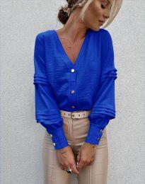 Стилна дамска риза в синьо - код 7492