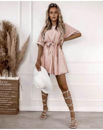 Атрактивна дамска рокля в розово - код 13131