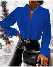 Кокетна дамска риза в тъмносиньо - код 9902