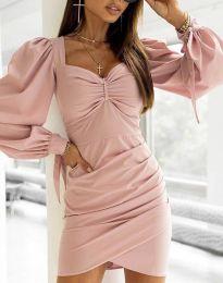 Дамска рокля  в цвят пудра - код 0363