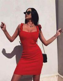 Дамска рокля по тялото в червено - код 0229