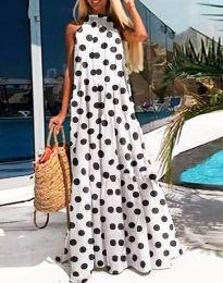 Дълга феерична рокля в бяло - код 0288