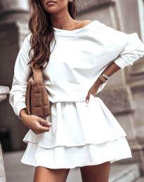 Дамска рокля в бяло - код 0525