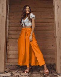 Дамска пола в оранжево с цепка - код 0849