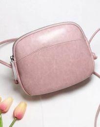 Изчистена дамска чанта в розово - код B340