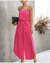 Свободен дамски гащеризон в розов цвят - код 565
