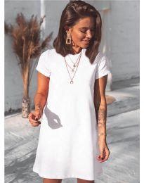 Изчистена рокля в бяло - код 2299