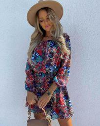 Стилна дамска рокля - код 9275 - 2